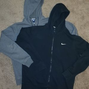 Nike zip up Hoodie Black and Gray